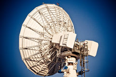 Prato satélite industrial Fotografia de Stock