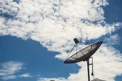 Prato satélite no céu azul Fotografia de Stock Royalty Free