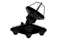 Prato satélite preto Imagens de Stock Royalty Free