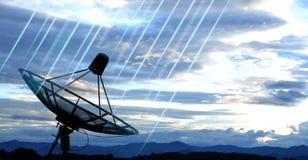 Prato satélite Fotografia de Stock Royalty Free