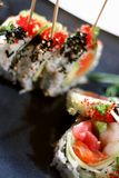 Prato Skewered do sushi Imagens de Stock Royalty Free