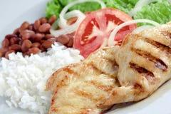 Prato típico de Brasil, de arroz e de feijões fotografia de stock royalty free