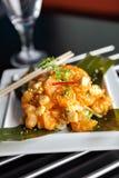 Prato tailandês friável do camarão Imagem de Stock