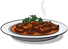 Prato tradicional da goulash ilustração do vetor