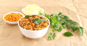 Prato tradicional indiano sul do arroz do vegetariano, Puliyogare Fotografia de Stock Royalty Free