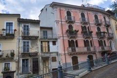 Pratola Peligna Abruzzi, Italia: palacio histórico Imagen de archivo libre de regalías