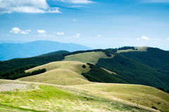Pratomagno. The hills of Pratomagno in Tuscany Royalty Free Stock Photography