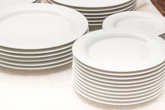 Pratos brancos Fotografia de Stock