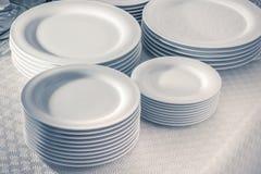 Pratos brancos Imagens de Stock