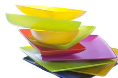 Pratos coloridos Imagem de Stock