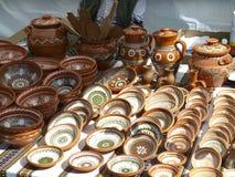 Pratos da argila fotografia de stock royalty free