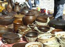 Pratos da argila fotografia de stock