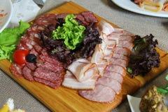 Pratos da carne Fotografia de Stock