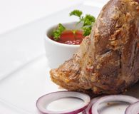 Pratos da carne do assado imagens de stock