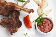 Pratos da carne do assado imagens de stock royalty free