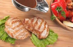 Pratos da carne do assado foto de stock royalty free