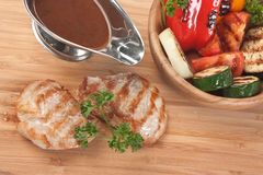 Pratos da carne do assado fotos de stock