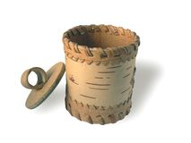 Pratos da casca de vidoeiro Imagem de Stock Royalty Free