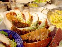 Pratos da lagosta e do camarão Fotos de Stock