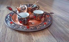 Pratos de cobre fotos de stock royalty free