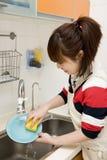 Pratos de lavagem Imagem de Stock Royalty Free