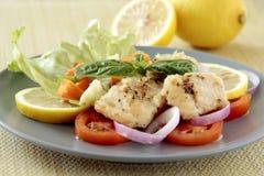 Pratos de peixes Fotos de Stock