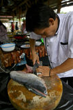 Pratos de peixes Foto de Stock