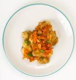 Pratos de peixes gregos e receita Foto de Stock Royalty Free