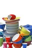 Pratos de porcelana imagem de stock