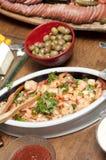 Pratos do alimento Foto de Stock