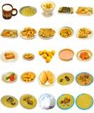 Pratos do arroz e alimento do jantar do árabe da cozinha Fotos de Stock