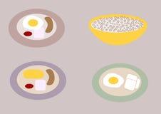 Pratos do café da manhã Fotografia de Stock