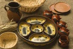 Pratos do ofício feitos em Michoacan Foto de Stock