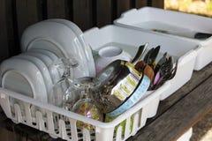 Pratos do verão foto de stock