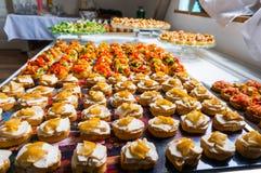 Pratos especiais para o evento Fotografia de Stock
