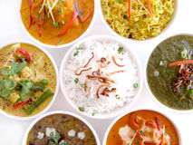 Pratos indianos Imagem de Stock Royalty Free