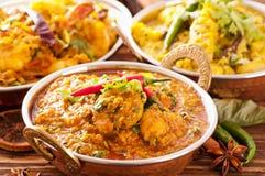 Pratos indianos fotos de stock