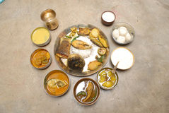 Pratos indianos fotografia de stock royalty free