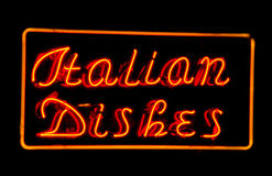 Pratos italianos Fotografia de Stock Royalty Free