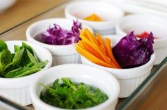 Pratos laterais dos vegetais Imagem de Stock Royalty Free