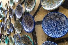 Pratos marroquinos imagens de stock