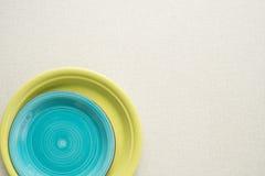 pratos Multi-coloridos Fotos de Stock Royalty Free