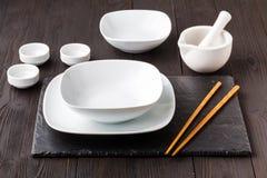 Pratos para a culinária asiática fotos de stock royalty free