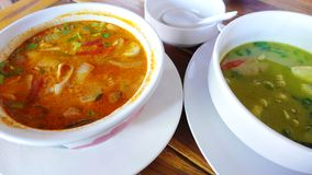 Pratos picantes do café de Tailândia imagem de stock royalty free