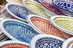 Pratos pintados Imagem de Stock