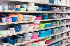 Pratos plásticos Imagem de Stock