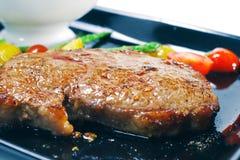 Pratos quentes da carne - Ribai imagem de stock