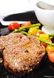 Pratos quentes da carne - Ribai Fotos de Stock