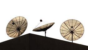 Pratos satélites imagem de stock