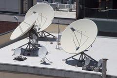 Pratos satélites Foto de Stock